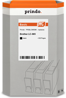Prindo Tintenpatrone Schwarz PRIBLC985BK LC-985 ~300 Seiten Prindo BASIC: DIE preiswerte Alternative