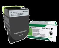 Lexmark Toner Schwarz 71B20K0 ~3000 Seiten Rückgabe-Druckkassette