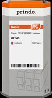 Prindo Tintenpatrone color PRIHPC8766EE 343 ~330 Seiten Prindo BASIC: DIE preiswerte Alternative, To