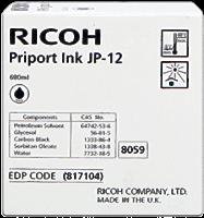 Ricoh Tintenpatrone schwarz 817104 JP12 600ml