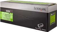 Lexmark Toner schwarz 52D2H00 522H ~25000 Seiten Rückgabe-Druckkassette