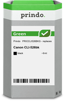 Prindo Tintenpatrone Schwarz PRICCLI526BKG Green 9ml Prindo GREEN: Recycelt & aufwendig aufbereitet,