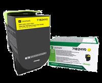 Lexmark Toner Gelb 71B2HY0 ~3500 Seiten Rückgabe-Druckkassette, hohe Kapazität