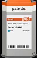 Prindo Tintenpatrone cyan PRIBLC1240C LC-1240 ~600 Seiten Prindo BASIC: DIE preiswerte Alternative,