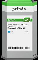 Prindo Tintenpatrone Cyan PRICCLI571CXLG Green 11ml Prindo GREEN: Recycelt & aufwendig aufbereitet,