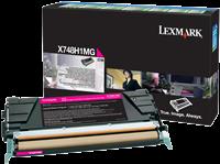 Lexmark Toner magenta X748H1MG X748 ~10000 Seiten Rückgabe-Druckkassette