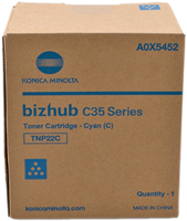 Konica Minolta Toner cyan A0X5452 TNP22C ~6000 Seiten