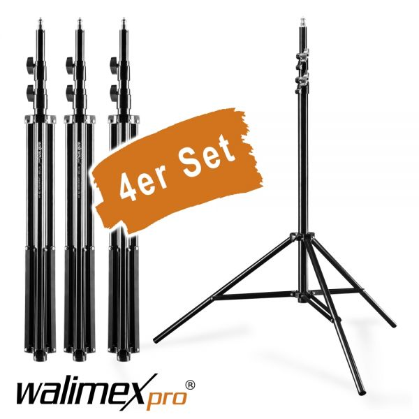 Walimex pro WT-806 Lampenstativ 256cm 4er Set