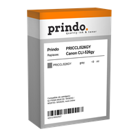 Prindo Tintenpatrone Grau PRICCLI526GY CLI-526 9ml Prindo CLASSIC: DIE Alternative, Top Qualität, vo
