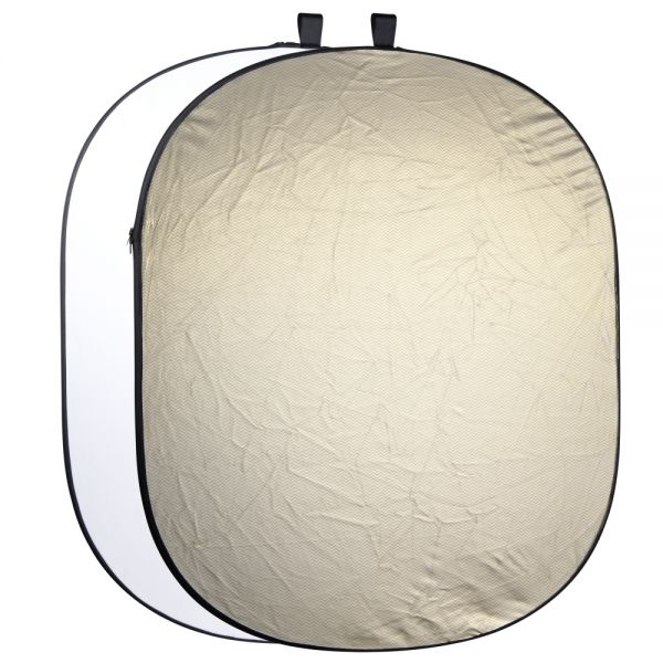 Walimex pro 2in1 Faltreflektor wavygold/weiß, 145x200