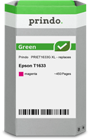 Prindo Tintenpatrone Magenta PRIET1633G Green ~450 Seiten Prindo GREEN: Recycelt & aufwendig aufbere