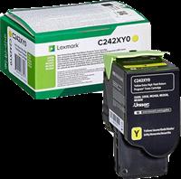 Lexmark Toner Gelb C242XY0 ~3500 Seiten Rückgabe-Druckkassette, extra hohe Kapazität