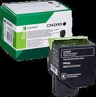 Lexmark Toner Schwarz C242XK0 ~6000 Seiten Rückgabe-Druckkassette, extra hohe Kapazität
