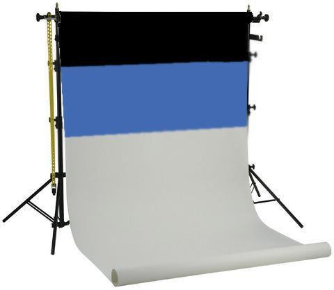 Falcon Eyes Hintergrundsystem SPK-3 inkl. 3 Rollen Schwarz/Weiß/Blau 1,35x11 m