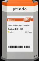 Prindo Tintenpatrone gelb PRIBLC1240Y LC-1240 ~600 Seiten Prindo BASIC: DIE preiswerte Alternative,