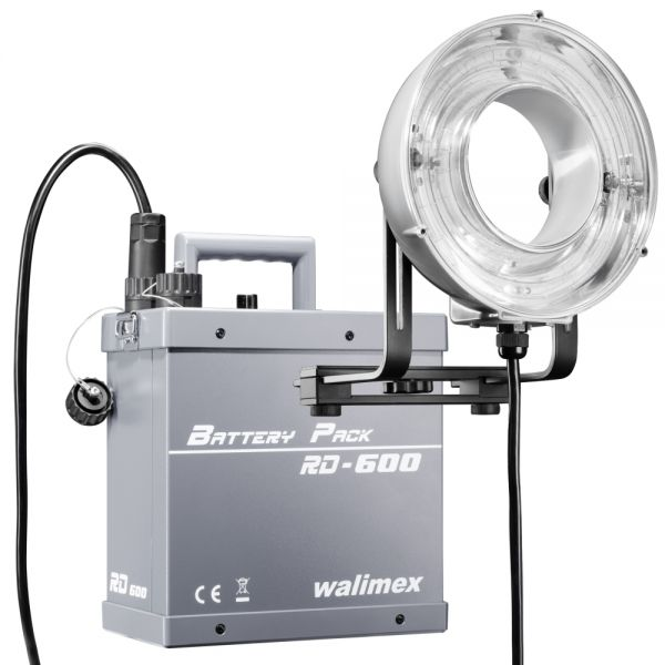 Miglior prezzo walimex Ringflash RD 600 with Battery Pack -