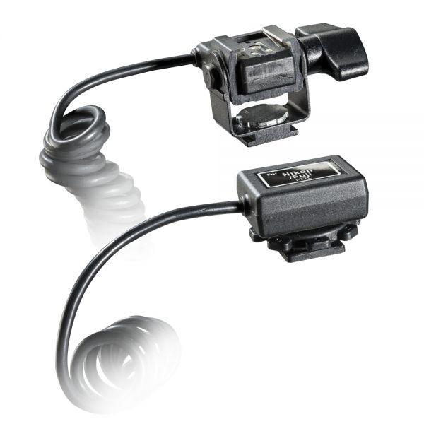 Walimex Spiral-Blitzkabel Nikon i-TTL,1/4 Zoll, 2m