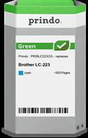 Prindo Tintenpatrone Cyan PRIBLC223CG Green ~550 Seiten Prindo GREEN: Recycelt & aufwendig aufbereit