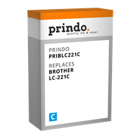 Prindo Tintenpatrone Cyan PRIBLC221C LC-221 ~260 Seiten Prindo CLASSIC: DIE Alternative, Top Qualitä