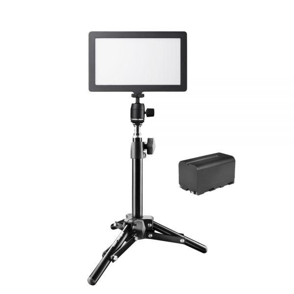 Walimex pro Soft LED 200 Square Bi Color Akku + 40cm Stativ Set