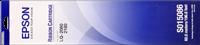 Epson Farbband schwarz C13S015086 S015086 Gewebefarbband, 12 Millionen Zeichen