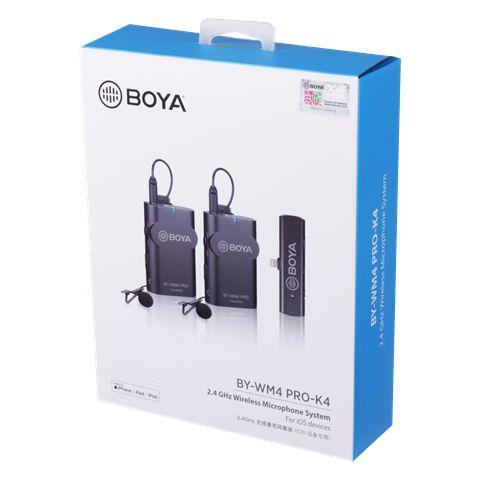 Boya 2.4 Ghz Dual Lavalier-Mikrofon Drahtlos BY-WM4 Pro-K4 für iOS