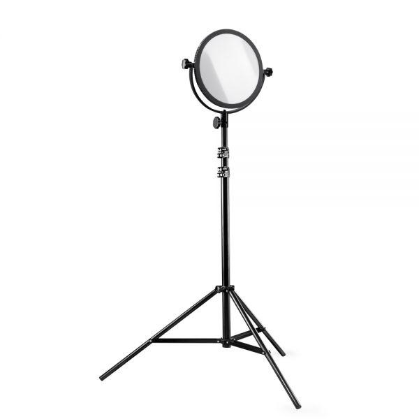Walimex pro Soft LED 300 Round Daylight Set inkl. 1x LED 1x Stativ 1x Akku NP-F 750