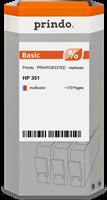 Prindo Tintenpatrone color PRIHPCB337EE 351 ~170 Seiten Prindo BASIC: DIE preiswerte Alternative, To