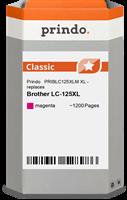 Prindo Tintenpatrone Magenta PRIBLC125XLM LC-125XL ~1200 Seiten Prindo CLASSIC: DIE Alternative, Top