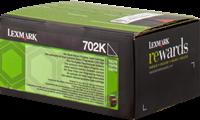 Lexmark Toner schwarz 70C20K0 702K ~1000 Seiten Rückgabe-Druckkassette