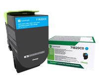 Lexmark Toner Cyan 71B20C0 ~2300 Seiten Rückgabe-Druckkassette