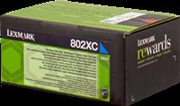 Lexmark Toner cyan 80C2XC0 802XC ~4000 Seiten Rückgabe-Druckkassette