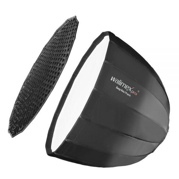 Walimex pro Studio Line Deep Rota Softbox QA70 mit Softboxadapter Broncolor