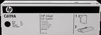 HP Tintenpatrone schwarz C6119A SPS 370ml TIJ 2.5 - HP 4500