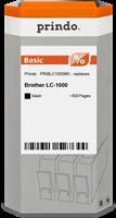 Prindo Tintenpatrone Schwarz PRIBLC1000BK LC-1000 ~500 Seiten Prindo BASIC: DIE preiswerte Alternati