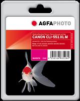 Agfa Photo Tintenpatrone Magenta APCCLI551XLM Agfa Photo ~970 Seiten 11ml Agfa Photo CLI-551m XL (64