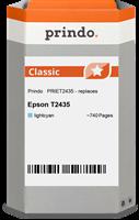 Prindo Tintenpatrone cyan (hell) PRIET2435 T2435 ~740 Seiten Prindo CLASSIC: DIE Alternative, Top Qu