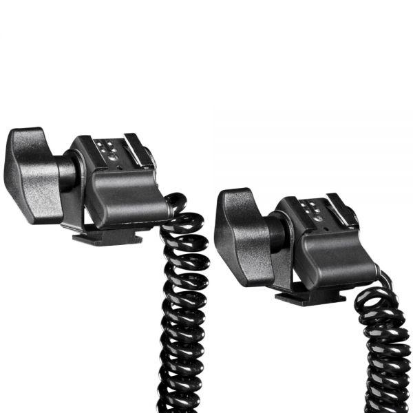 Walimex 2-fach Spiral-Blitzkabel Canon E-TTL II