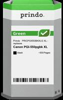 Prindo Tintenpatrone Schwarz PRICPGI550BKXLG Green ~500 Seiten Prindo GREEN: Recycelt & aufwendig au