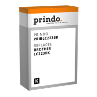 Prindo Tintenpatrone schwarz PRIBLC223BK LC-223 ~550 Seiten Prindo CLASSIC: DIE Alternative, Top Qua