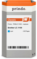 Prindo Tintenpatrone cyan PRIBLC1100C LC-1100 ~325 Seiten Prindo CLASSIC: DIE Alternative, Top Quali