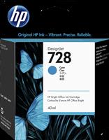 HP Tintenpatrone Cyan F9J63A 728 40ml