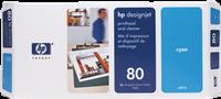 HP Druckkopf cyan C4821A 80 inkl. Reiniger
