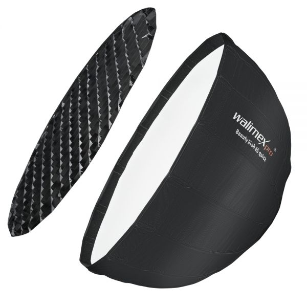 Walimex pro Studio Line Beauty Dish Softbox QA65 mit Softboxadapter Multiblitz V