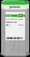 Prindo Tintenpatrone Cyan PRIBLC123CG Green ~600 Seiten Prindo GREEN: Recycelt & aufwendig aufbereit