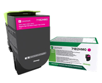 Lexmark Toner Magenta 71B2HM0 ~3500 Seiten Rückgabe-Druckkassette, hohe Kapazität