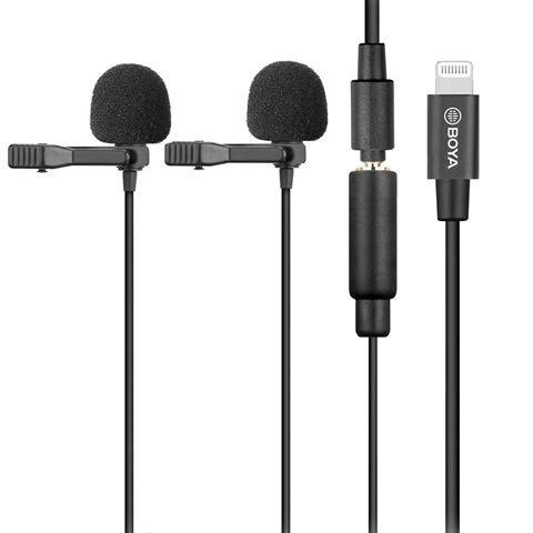 Boya Duo Lavalier-Aufsteckmikrofon BY-M2D für iOS