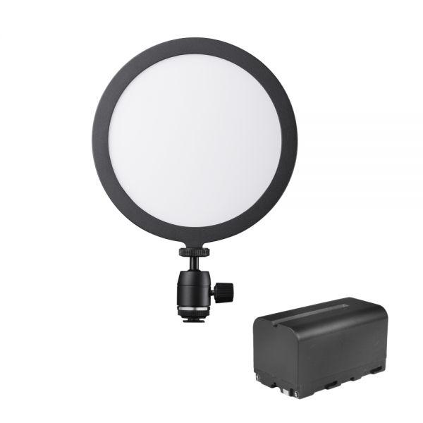 Walimex pro Soft LED 200 Round Bi Color Akku Set