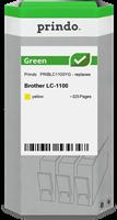Prindo Tintenpatrone Gelb PRIBLC1100YG Green ~325 Seiten Prindo GREEN: Recycelt & aufwendig aufberei