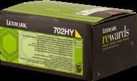 Lexmark Toner gelb 70C2HY0 702HY ~3000 Seiten Rückgabe-Druckkassette